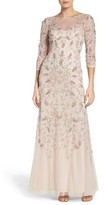 Adrianna Papell Women's Beaded A-Line Gown