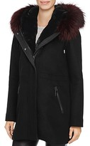 Dawn Levy Tiffany Fur Trim Coat