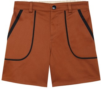Gucci Kids Stretch-cotton gabardine shorts