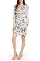 Frnch Alezia Floral Print Long Sleeve Dress