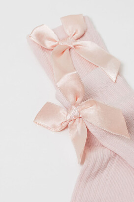 H&M Knee Socks with Bow - Pink