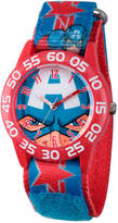 Marvel Boys Blue Captain America Time Teacher Plastic Strap Watch W003257
