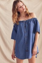 Urban Renewal Remade Chambray Off-The-Shoulder Dress