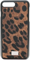 Dolce & Gabbana leopard print iPhone 7 Plus case - men - Cotton/Plastic/Polyester/Polyurethane - One Size