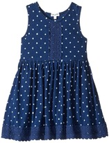 Splendid Littles Indigo w/ Lace Trim Dress Girl's Dress