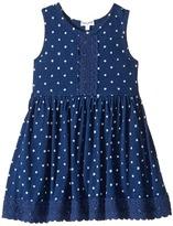 Splendid Littles Indigo w/ Lace Trim Dress (Toddler)