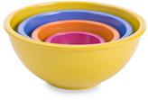 Zak Designs Colorways 4-Piece Assorted Mixing Bowl Set - Yellow