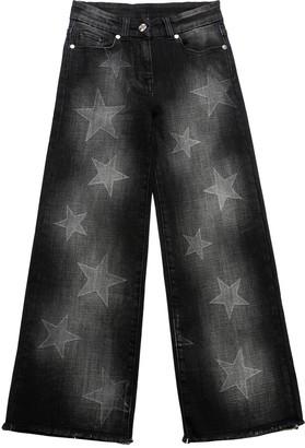 MonnaLisa Stars Print Stretch Denim Jeans