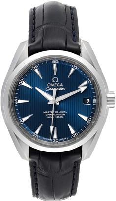 Omega Blue Stainless Steel Aqua Terra 231.13.39.21.03.001 Automatic Men's Wristwatch 38.5 MM