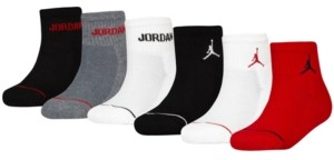 Jordan Big Boys 6-Pk. Ankle Socks