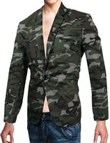uxcell® Men Long Sleeve Camouflage Pattern Buttoned Cuff Chic Blazer
