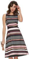 Elle Women's ELLETM Print Pleated Midi Dress