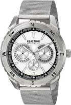 Kenneth Cole Reaction Men's 10030937 Sport Analog Display Japanese Quartz Silver Watch