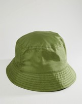 Asos Bucket Hat In Khaki