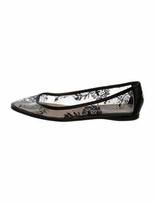 Jimmy Choo Lace Pattern Ballet Flats Black