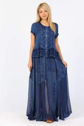 Apparel Love Denim Blue Maxi-Skirt