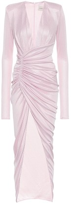 Alexandre Vauthier Metallic ribbed-knit gown