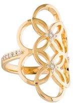 Catherine Malandrino Diamond Circle Linked Floral Ring