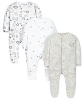 Mothercare Baby Woodland-3 Pack Bodysuit,0-3 Months (Manufacturer Size: up to 1 Mnth-10Lbs)
