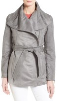 Laundry by Shelli Segal Women's Belted Faux Suede Jacket
