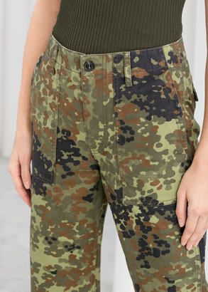 And other stories Cropped Camouflage Workwear Pants