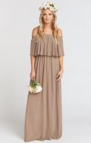 MUMU Hacienda Maxi Dress ~ Dune Chiffon