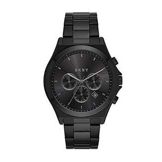 DKNY Men's Parsons Quartz Watch with Stainless-Steel-Plated Strap
