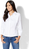 New York & Co. 7th Avenue - Madison Stretch Shirt - Dolman - White