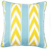 Jiti Ikat Stripe Outdoor Pillow Green