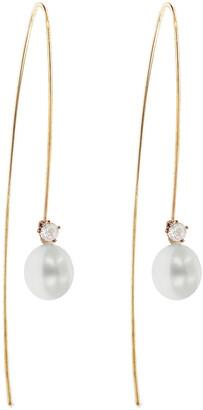 Kataoka Pearl Diamond Rose Gold Drop Earrings