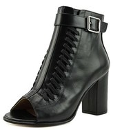 Belstaff Brinkley Women Open-toe Leather Black Bootie.