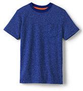 Lands' End Boys Husky Short Sleeve Textured Tee-Rich Sapphire