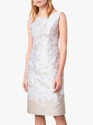 Jaeger Fitted Shift Dress, White