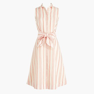 J.Crew Sleeveless tie-waist shirtdress