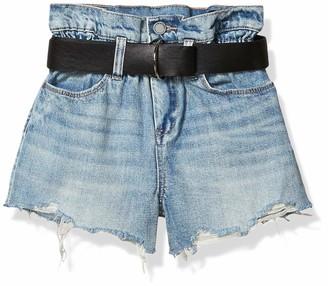 Blank NYC Women's Belted Denim Short Shorts