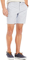 Original Penguin P55 Basket Weave Chambray Slim-Fit Flat-Front Shorts