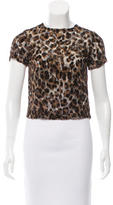 Alice + Olivia Sheer Leopard Print Top w/ Tags