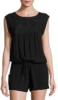 L-Space L Space Carly Sleeveless Romper, Black