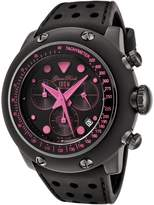 Glam Rock Men's GR90111 Racetrack Collection Chronograph Black Silicone Watch