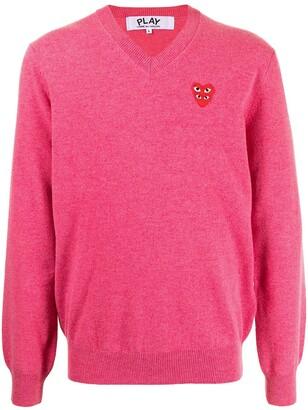 Comme des Garcons Heart Logo Cotton Jumper
