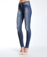 Mavi Jeans Blue High Rise Super-Skinny Jeans - Petite