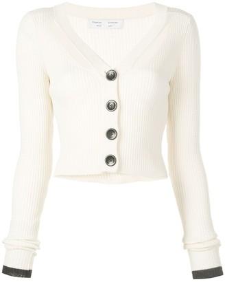Proenza Schouler White Label Fine Gauge Rib Cropped Knit Cardigan