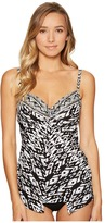 Miraclesuit Tiki Love Knot Tankini Top Women's Swimwear