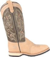 "Roper Women's Double H 12"" Domestic Square Toe Collared"