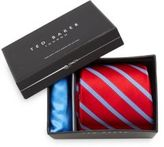 Ted Baker Heathrow Striped Tie & Pocket Square Set