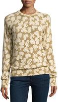 Equipment Sloan Cashmere Heart-Print Sweatshirt, Brown