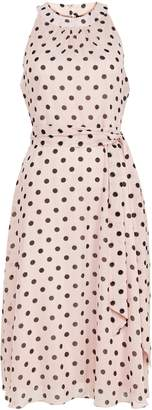Wallis PETITE Blush Halter Neck Polka Dot Dress