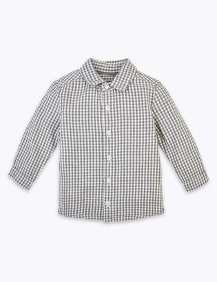 Marks and Spencer Cotton Checked Shirt