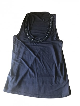 Mulberry Navy Viscose Tops