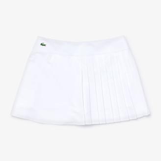 Lacoste Women's SPORT Asymmetrical Pleated Tennis Skirt